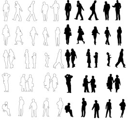 35+ Awesome People Silhouette Vector Sets Creative CanCreative Can