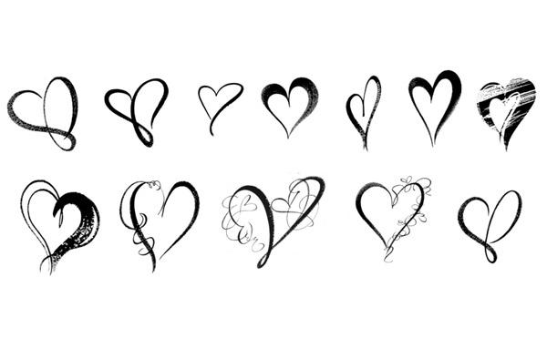 Download 30 Heartwarming Valentine Photoshop Brushes - Creative ...