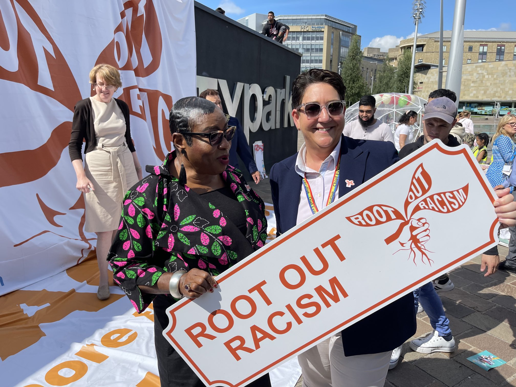 Root Out Racism Campaign in action