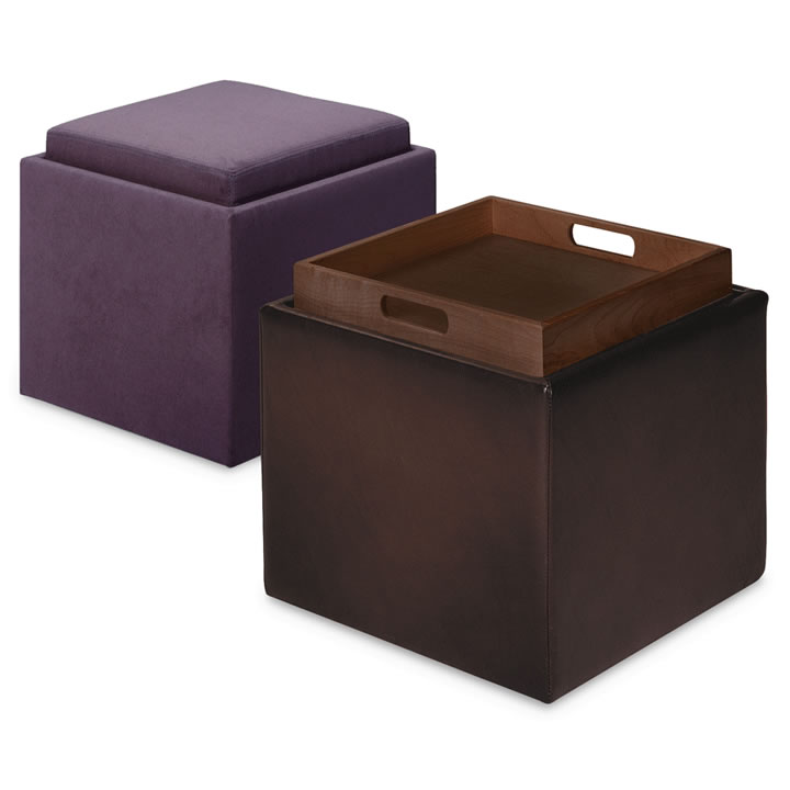 Small Leather Ottoman Coffee Table