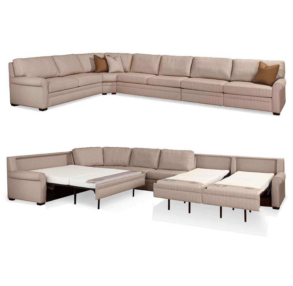 comfortable cheap sleeper sofa can you recover leather sofas with fabric gaines comfort by american creative classics sectional open