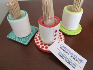 Clay Toothpick Holders