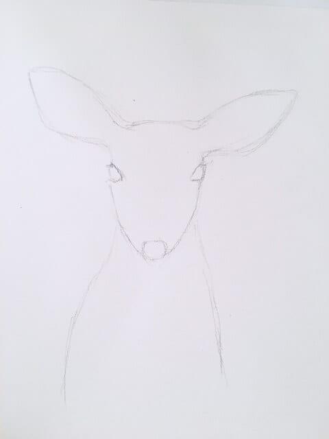 Du siehst wie Dodo die Vorzeichnung in Bleistift anlegt.