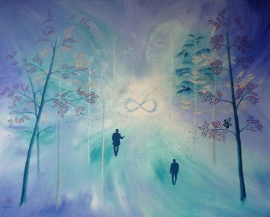Du siehst hier das Gemälde Infinity