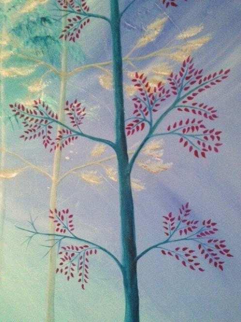 Du siehst hier einen Baum in Acrylfarbe von Dodo Kresse