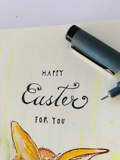Der fertige Spruch Happy Easter for you ist hier zu sehen