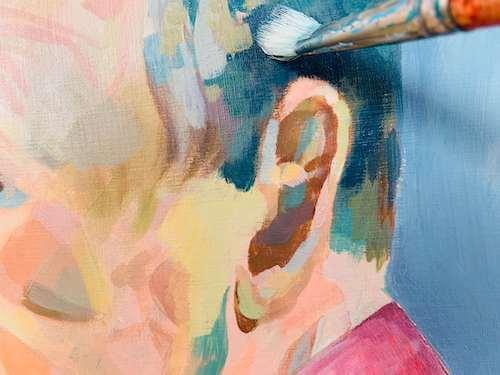 Du siehst ein Detail des Portraits, ein Ohr