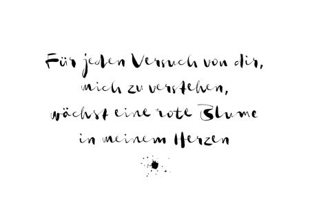 Du siehst ein Zitat aus meinem neuen Gedicht Blume der Liebe