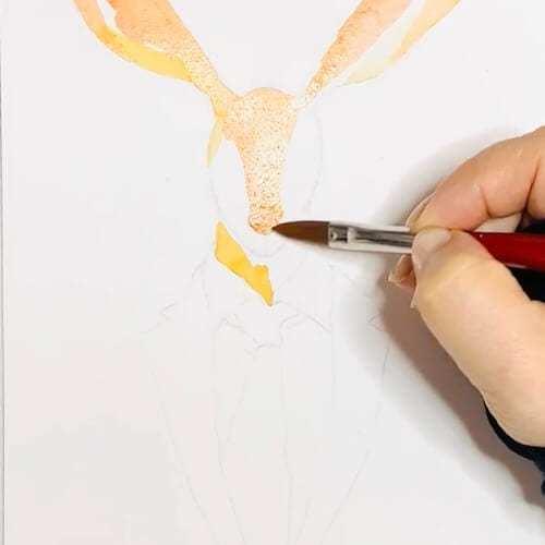 Du siehst wie ich die Nase des Dandy Osterhase male