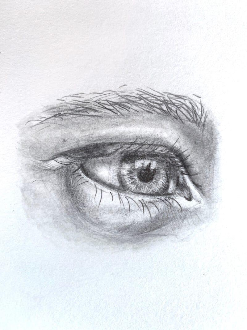 The Face - du siehst die Zeichnung eines Auges