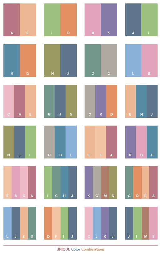 Unique Color Schemes, Color Combinations, Color Palettes