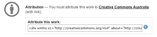 Commons Deed attribution code