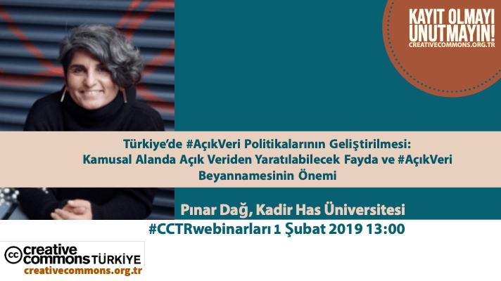 #CCTRwebinar: Türkiye'de Açık Veri Politikalarının Geliştirilmesi