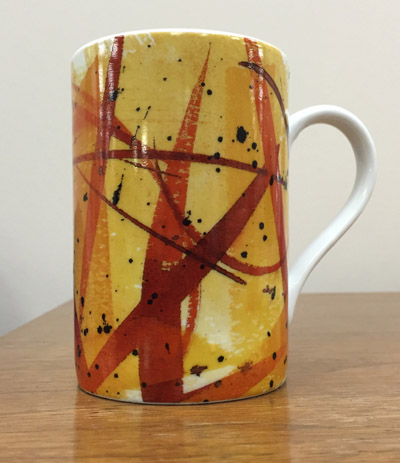 Mug featuring artwork by Guy Kemper, from the collection of Executive Director Lori Meadows