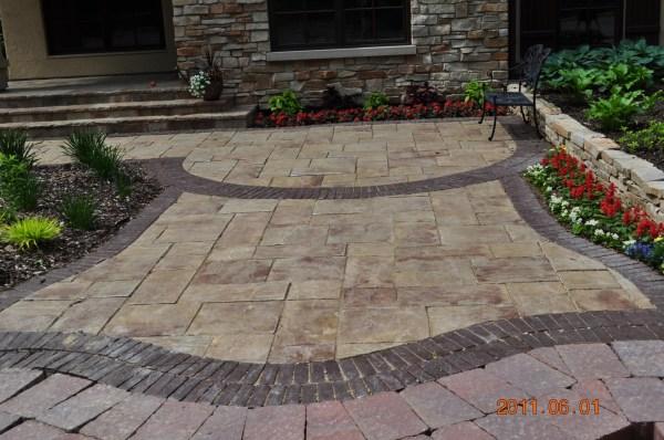 rockford brick paver landscape