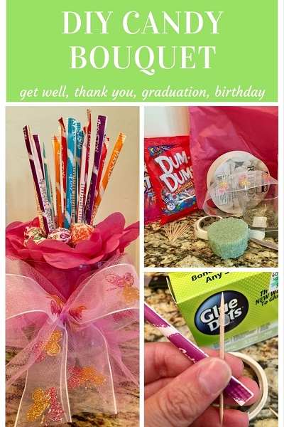 Diy Quick And Cute Candy Bouquet