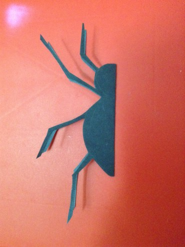 spider shape cut out