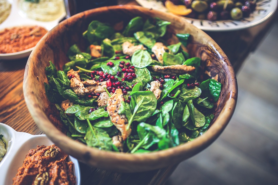 apple chicken spinach salad