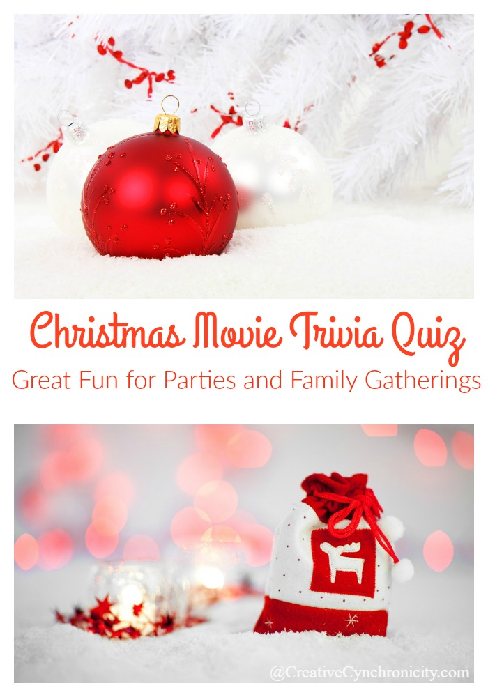 graphic relating to Printable Christmas Movie Trivia Questions and Answers identified as Xmas Video clip Trivia Quiz - Inventive Cynchronicity