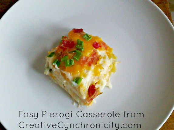 Easy Pierogi Casserole from CreativeCynchronicity.com