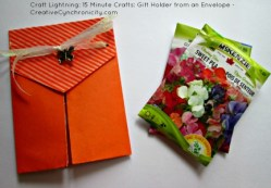 Craft Lightning: 15 Minute Crafts: Envelope Gift Holder
