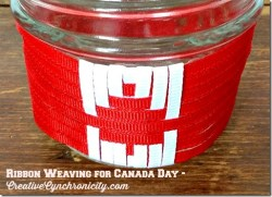 Getting Creative with Ribbon for Canada Day!