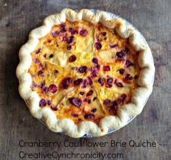 Cranberry Cauliflower Brie Quiche