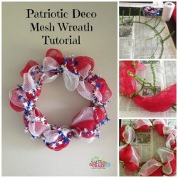 Patriotic Deco Mesh Wreath {12 Days of Celebrating Summer}