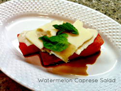 Easy Watermelon Caprese Salad {12 Days of Celebrating Summer}