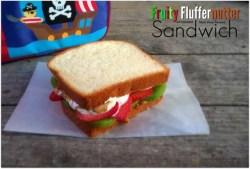 Fruity Fluffernutter Sandwich {#12DaysOf School Lunches}