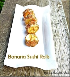 Banana Sushi Rolls {#12DaysOf School Lunches}