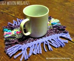 Easy Woven Yarn Mug Rugs {100 Days to Christmas}