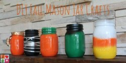Fall Mason Jars {12 Days of Halloween Ideas}