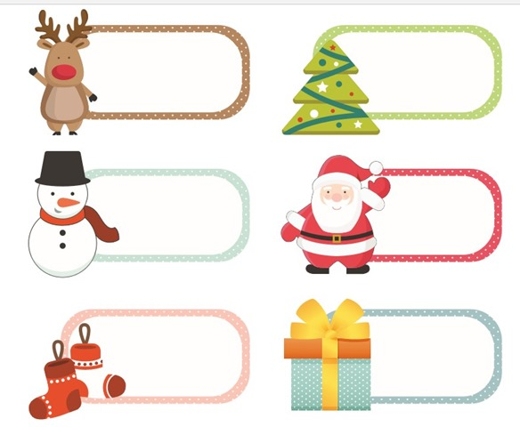 image regarding Christmas Labels Printable called Totally free Xmas Printable Labels - Resourceful Cynchronicity