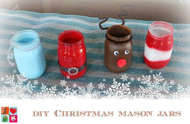 diy christmas mason jars