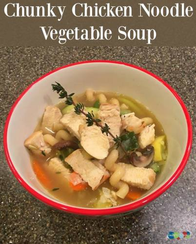 chunky chicken noodle vegetable soup
