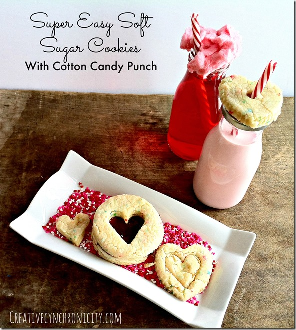 super easy soft sugar cookie recipe with cotton candy punch recipe