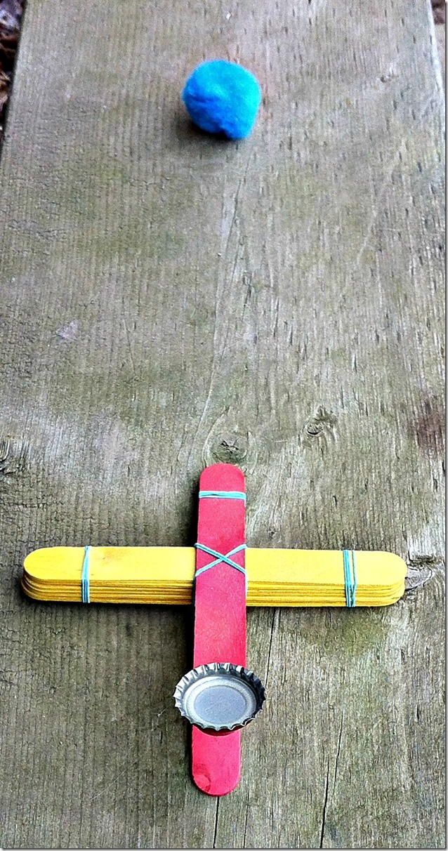 Catapult Craft For Kids: DIY Craft Stick Catapult