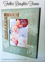 DIY Gift for Dad: Father-Daughter Frame