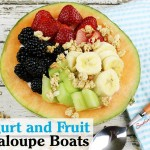 Yogurt and Fruit Cantaloupe Boats Recipe