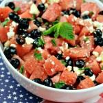 Watermelon Blueberry Feta Salad Recipe