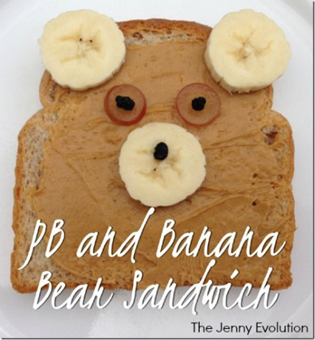peanut butter bear toast