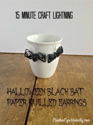 How to Make Paper Quilled Halloween Black Bat Earrings