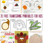 20 Free Thanksgiving Printables for Kids