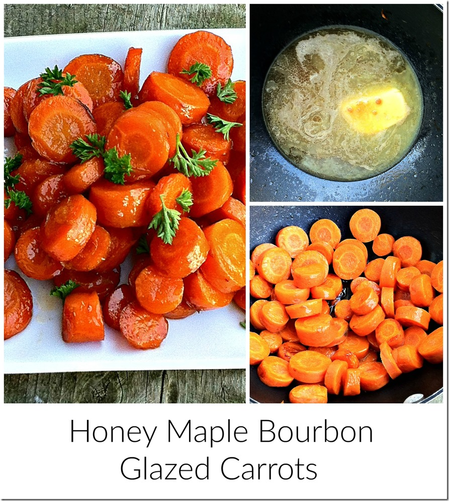 Honey Maple Bourbon Glazed Carrots Recipe