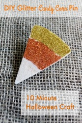 Make a Glitter Candy Corn Pin