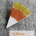 Make a Glitter Candy Corn Pin