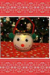 Easy DIY Snowman Candle Holder