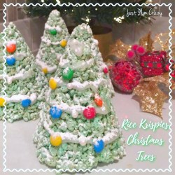Three Ingredient Rice Krispies Christmas Trees Recipe