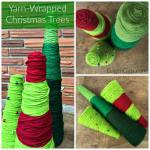 Yarn Wrapped Christmas Trees